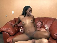 Press play on this hardcore scene and get a load of Ms. Platinum's big round ass in this hot scene where her sweet black pussy gets nailed by this guy's thick cock.