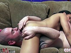 Red haired wanton bitch an her Asian slutty kooky passionately fight for one sugary penis of that brutal horny dawg. Look at this BJ competition in My XXX Pass porn video!