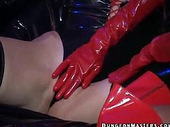 What are you waiting for? Watch these brunettes, with big jugs wearing latex clothes, while they lick and touch each other fervently.