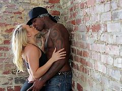 This blonde slut is taking hip hop dance lessons and she is extremely attracted to her big black dance teacher. He leans her against the wall and kisses her passionately. As she is laid down on the ground he opens her legs and eats her wet cunt. This is the best dance lesson she has ever had.