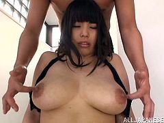 Take a look at this hot scene where the horny Rion Nishikawa is masturbates with sex toys as you take a look at her huge natural breasts.