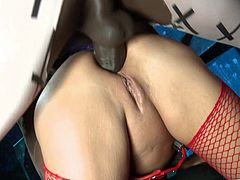 Dirty fuckin' whore gets her tight asshole stuffed with hot fuckin' dick. Hit play and watch her get pounded big fuckin' time.