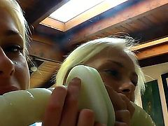 Just by looking at thees two blondes with Ivana Sugar you can tell for sure that they are horny as hell, playing with their big ass toys and sucking them they are having a lot of fun and pleasure.