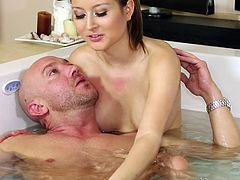 jerked and sucked in the bathtub