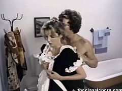 The Classic Porn brings you an amazing free porn video where you can see how a vicious vintage blonde slut gets banged in the bathroom while assuming very hot poses.