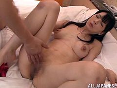 Sexy Shinori Ihara takes a dress off and gets her clean shaved pussy fingered. This babe with nice boobs also gets fucked. Shinori moans loudly because this dude fucks her like no one before.