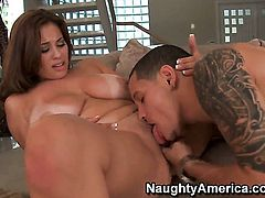Cris Commando gets seduced into fucking by Latin Selena Castro with phat booty and smooth cunt