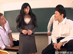 Witness this clip where an Asian brunette gets fucked hard by three mean dudes who force her to do thing she is not willing to do. Fucking bastards!
