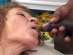 To say that this old woman is addicted to dark meat would be an understatement. Cock crazed granny is ready to do anything to please her black friends, no matter what they ask of her. Press play and get ready for the hottest interracial sex video.