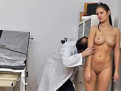 Young doll attends the doctor where she receives amazing pussy examination