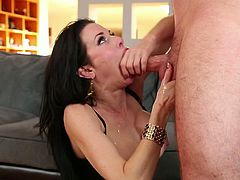 Check out this POV video with insatiable brunette Veronica Avluv deepthroating her boyfriend and feel free to beat your cock on it.