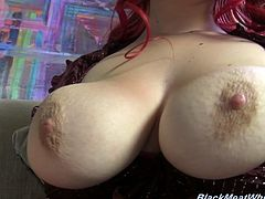 This interview took a turn for the hot when Aurora Rose unbuttoned her blouse and let her ample tits spill out and fill up the screen.