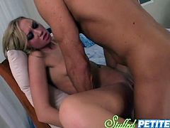 Slutty and filthy blond haired whore gets her pussy drilled in mish pose, cowgirl pose and i doggystyle. Watch in steamy My XXX Pass sex clip.