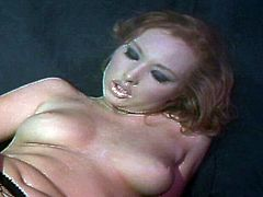 There is no stopping as this red haired lusty slut in sizzling fishnets rides two huge cocks for nasty double fucking. Watch this redhead chick go from being just a regular gal to a brand new whore!