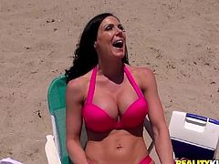 She was chilling on the beach, when he comes and tells her that he has a hell of a cock! Kendra Lust will be enjoying it soon!