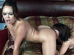 Check out hot beauties deep licking one another's wet pussy in raw oral