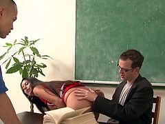 Take a look at this hardcore scene where the slutty Nikki Daniels ends up with a mouthful of cum after being fucked by this guy.