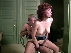 Horny and filthy slut with nice boobs and dark hair gets her dripping cunt polished and fucked in doggystyle and cowgirl pose. Have a look in steamy The Classic porn sex video.