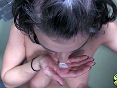 Amazing glopryhole video with kinky brunette Ricki White