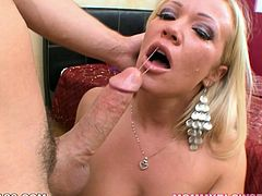 This exciting new 69 sex video is everything your cock desires. Hussy blonde chick gives deepthroat blowjob and gets her muff polished at the same time in 69 pose.