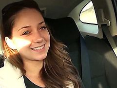 Hot and naughty Francesca Le with her beautifull hair and style and her cute and horny friend Remy Lacroix are having some fun time in a car while getting to their destination