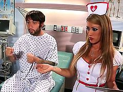 Nurse Capri Cavanni sucks a diseased cock