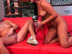 Amazing lesbian scene with horny lesbians named Kari Sweets and Tess Lyndon