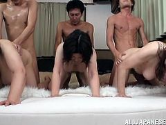 All these horny chicks and hungry studs had gathered to have some group sex today! It's so fucking nasty when they all start moaning.