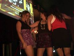 Get a load of this hot party clip where these sexy ladies show off their great bodies as they get drunk and have fun on camera.