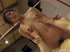 Beautiful and slim Japanese slut gives an amazing blowjob to some guy and lets him eat her asshole. Then they fuck in cowgirl position and seem to be unable to stop.