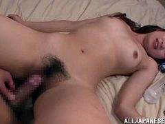 Check out this awesome hardcore sex scene right here with this amazing Japanese cutie as she sucks dick and gets fucked.