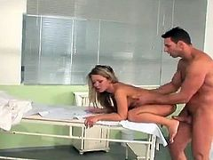 Captivating blonde chick Bianca Arden is playing dirty games with a masseur. She lets the man rub her awesome body and they fuck in missionary and cowgirl positions afterwards.