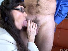 Have fun with this hardcore scene where a horny milf and her sexy daughter share this older guy's large cock in a hot threesome.
