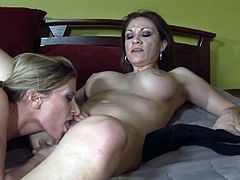 Have fun with this hot lesbian scene as you watch these horny ladies pleasing one another as their moans make you pop a boner.