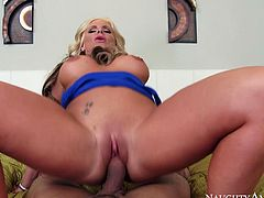 Gorgeous Phoenix Marie gives blowjob and footjob