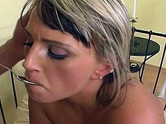 Girls from Doghouse Digital having warm loads dripping down their mouths