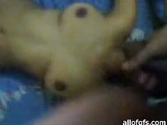This flexible Indian nympho just loves to fuck. She lifts her legs up indicating how bad she wants her lover to fuck her tight pussy. Horny dude pounds her ruthlessly in and out pushing her to the edge of powerful orgasm.