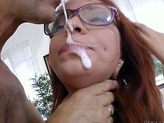 Red haired whorish bitch in sexy fishnets got her anus pounded in doggy style hard. Later she sucked that sloppy smelly cock greedily. Have a look at this dirty 3 some anal fuck in Fame Digital sex video!