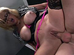 Sizzling Katie Kox shows gets pounded in an office. This blonde licks balls and sucks a big dick. Surely, she gets her yummy vagina licked and fucked as well.