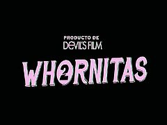 Whornitas 2. Featuring Charlyse Angel, Selma Sins, Nadia Styles,  Bridgette B. These girls are whores, and Devils Film caught them right in the middle of their devious acts!