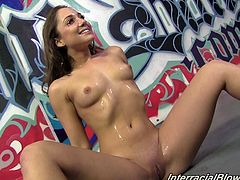 Look at this kinky and playful siren Remy LaCroix. She is going to have so much passion and orgasm. Now babe is going to wash some cum off.