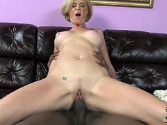 A slutty White cougar has the best sex in her life. She sucks the biggest dick she has ever seen. After that Camryn gets fucked deeper and harder than ever before. In the end this MILF gets her face cum covered massively.