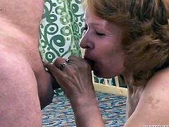 That whorish woman looks pretty old. Though her mouth still wants to suck big sweet cocks. Her four eyed feverish man gets provided with solid deep throat. She gets rewarded with nice sideways pose fuck. Look at this insatiable old whore in Fame Digital porn video!
