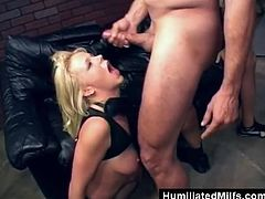 She is a milf that will get a surprise double penetration today! She has a desire to blow a cock with one in her experienced pussy!