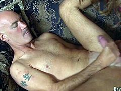 Hot tempered shemale drills her boyfriend's ass hole furiously