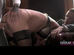 Erotic threesome hardcore fucking with Cathy Heaven