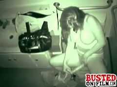 Horny chick was caught to have some fun with her favorite dildo. What she doesn't know is that everything is being recorded by a hidden camera in the toilet.