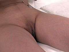 Brown haired babe takes off her sexy lingerie and shows her ass and then inserts her hand in her anus. She also spreads her legs and gets her wet cunt licked. Have a look at this Japanese bitch in Jav HD sex video.