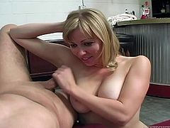 Fun sex with the busty blonde Adrianna Nicole