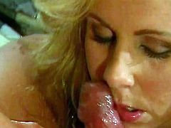A nasty ass blonde looney sucks on a hard cock and gets her fuckin' gash stuffed with hard fuckin' dick, check it out right here!